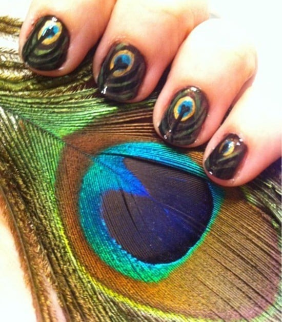 feather & zebra nail designs 6