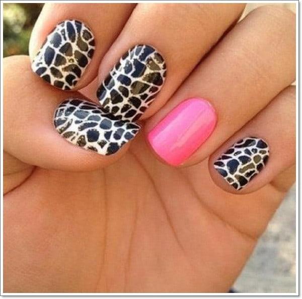 feather & zebra nail designs 7