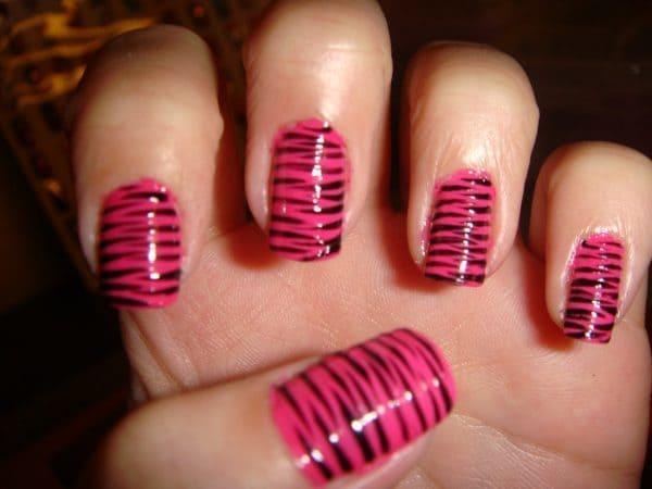 feather & zebra nail designs 9