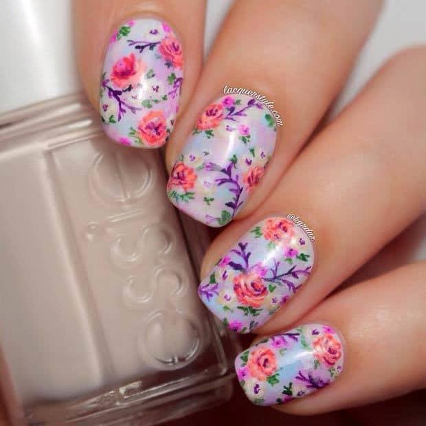 floral nail designs 1