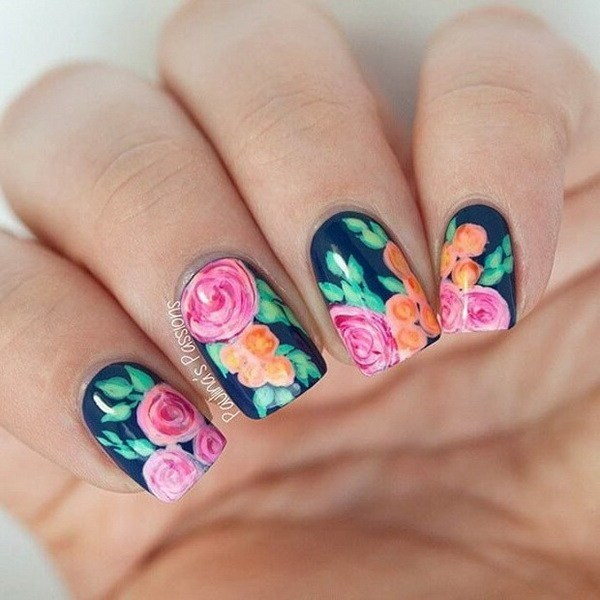Floral Nail Art: 7 Graceful Floral Nail Arts For Spring