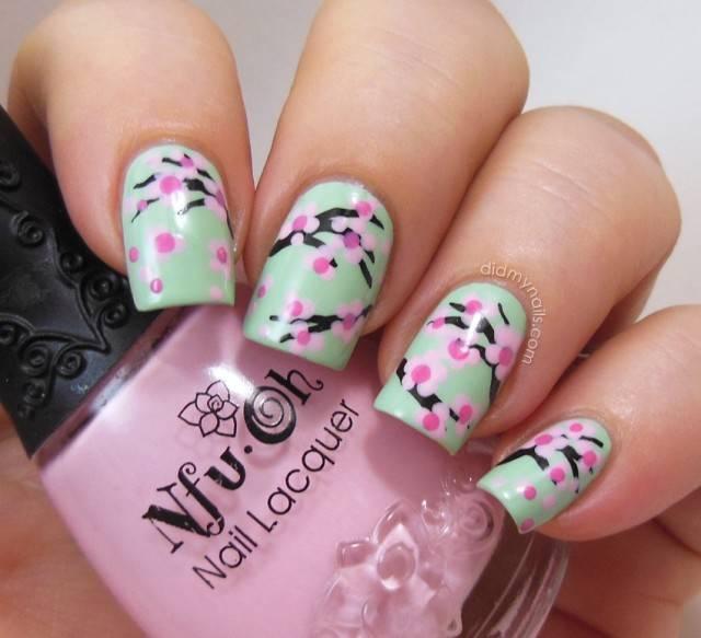 floral nail designs 7