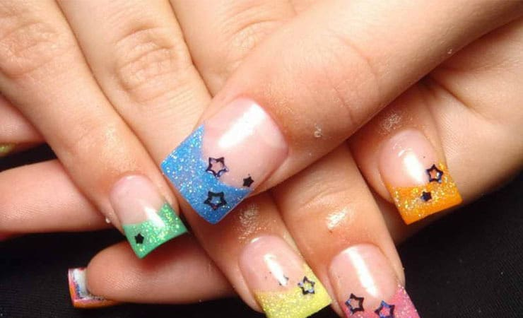 cute french tip nail designs for women