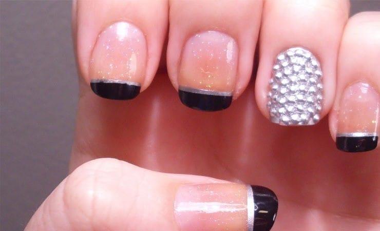 women French Black nail