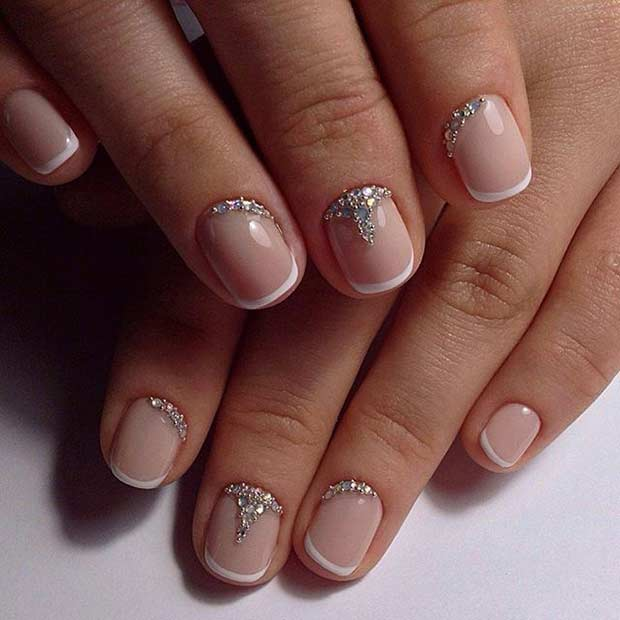 white french tips nail designs - Nail Design Ideas