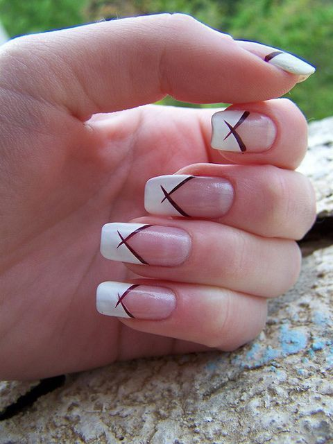 french tip nail designs 23