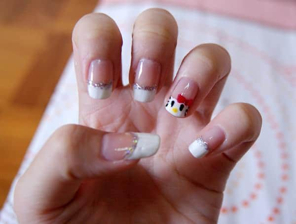 cute french tip nail designs for young girl
