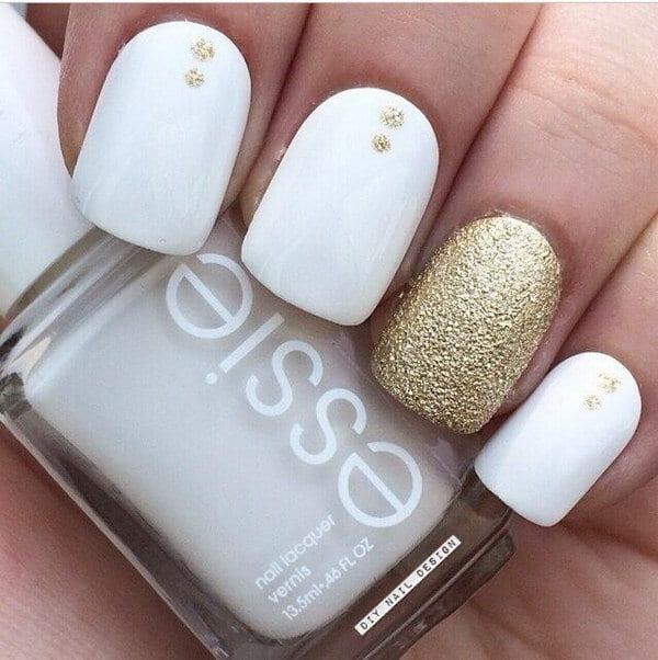 gold nail designs 12