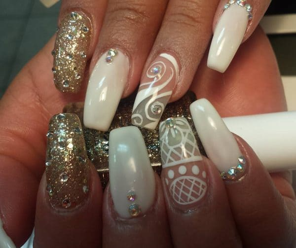 different design with nail gold ideas