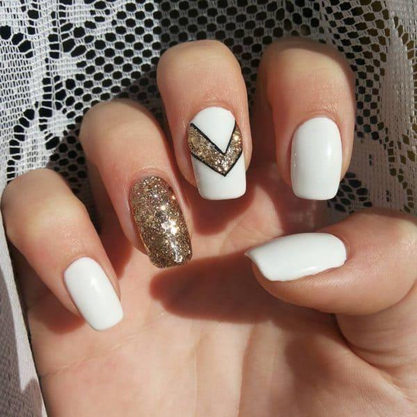 Design with glitter chevron for girls