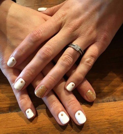 gold nail designs 27