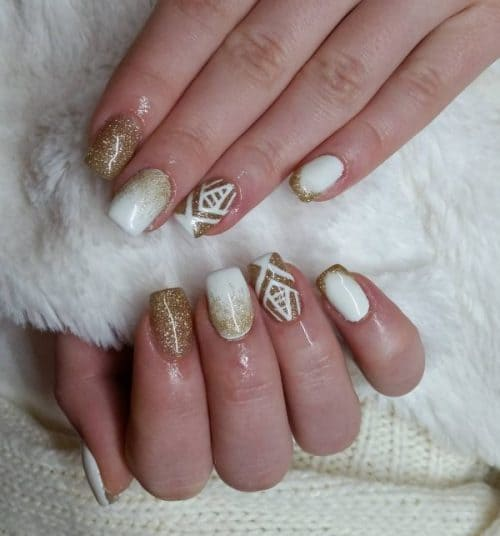 golden nail designs for gorgeous girl