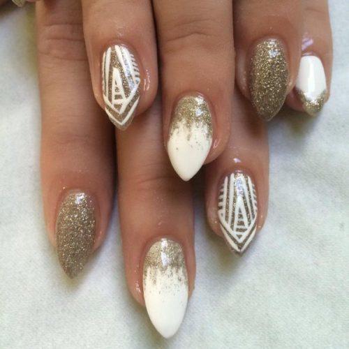 gold nail designs 29