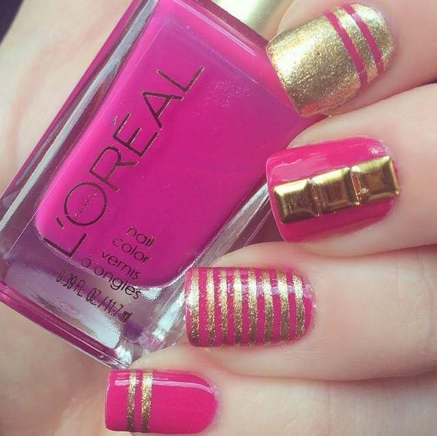 gold nail designs 32