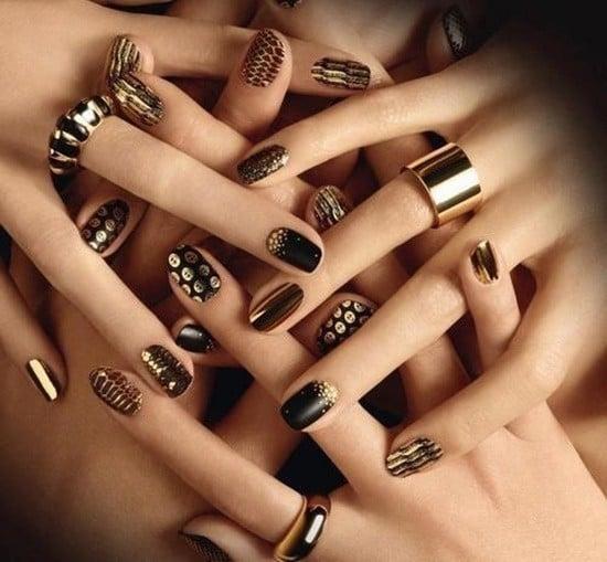 gold nail designs 35