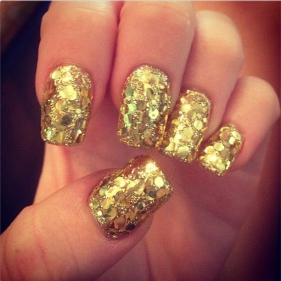 shiny glitter design for young girl