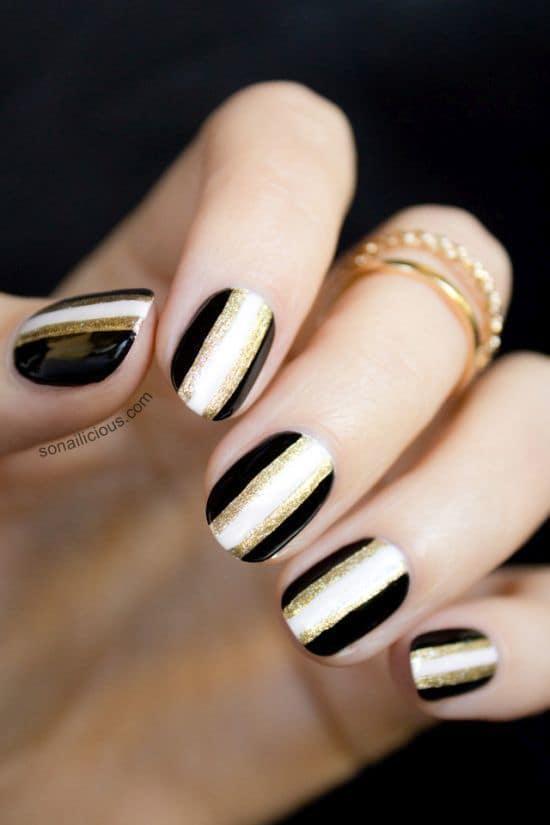 gold nail designs 7