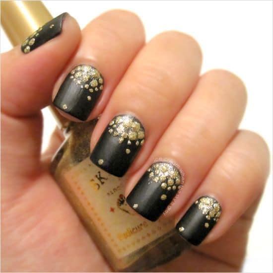 gold nail designs 8