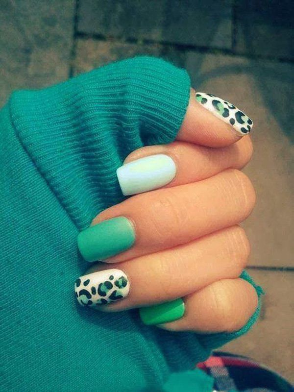 25 fun flattering green nail design ideas green nail designs 1 prinsesfo Gallery