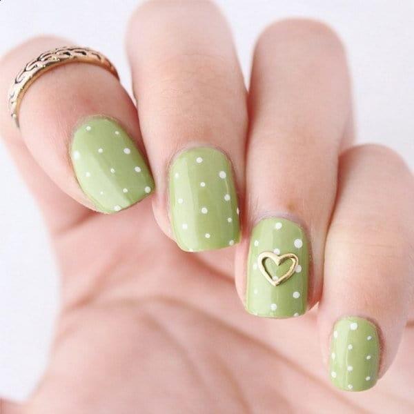 green nail designs 10