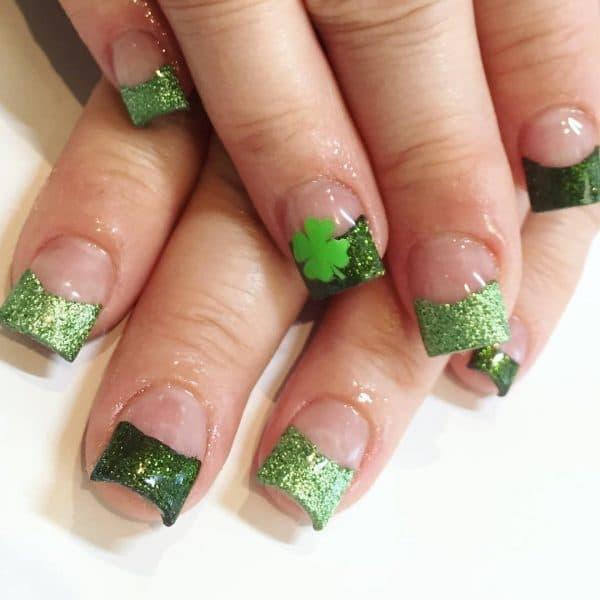 green nail designs 14