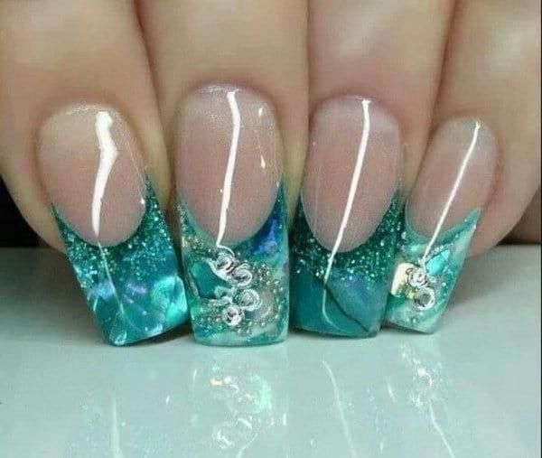green nail designs 15