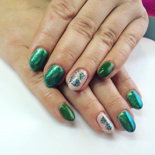 green nail designs 19