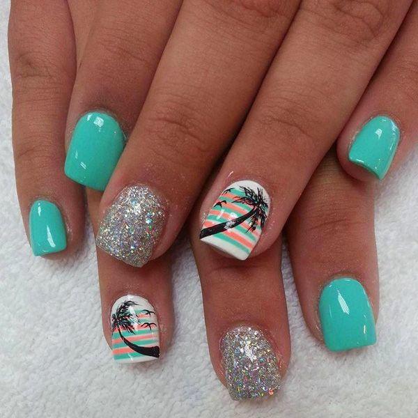 green nail designs 20
