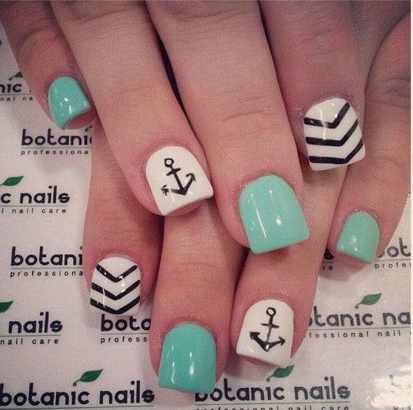 green nail designs 25