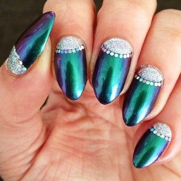 green nail designs 5