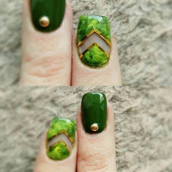 green nail designs 6