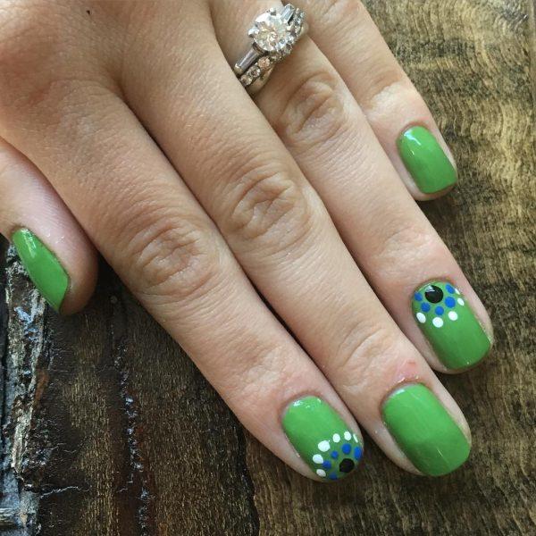 green nail designs 9