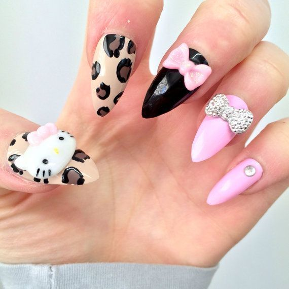 20 hello kitty claw nail designs try the trend cheetalicious hello kitty claw nail idea for girl prinsesfo Gallery