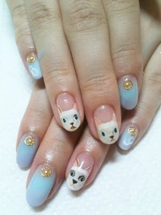 hello kitty & Claw nail designs 16