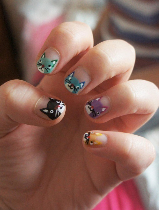 20 hello kitty claw nail designs try the trend kitten litter nails prinsesfo Choice Image