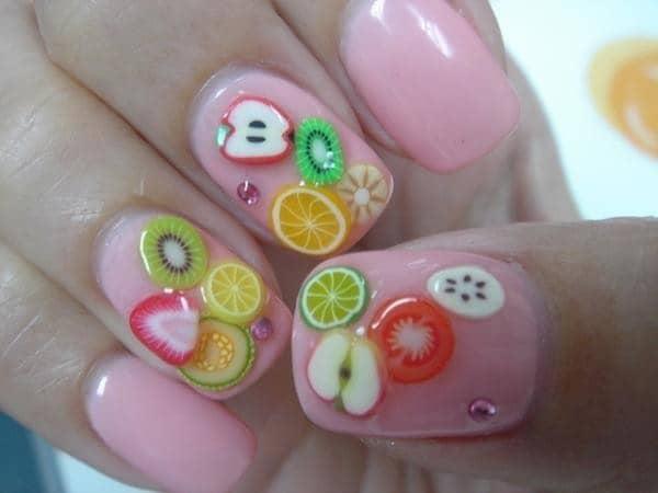 hot pink nail designs 12