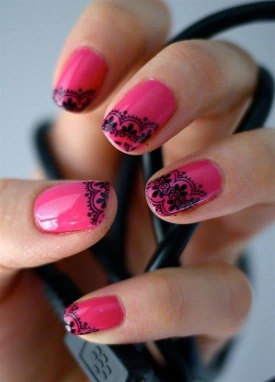 hot pink nail designs 15