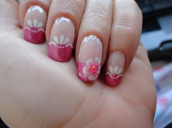 hot pink nail designs 16