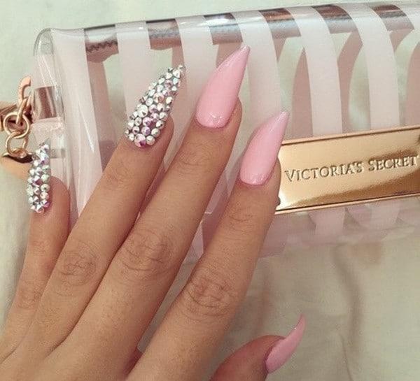 hot pink nail designs 19