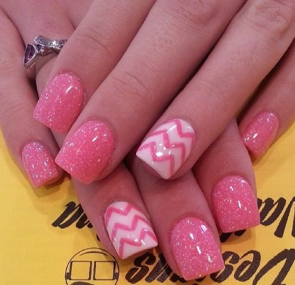 50 hottest pink nail designs trending right now hot pink nail designs 2 prinsesfo Gallery