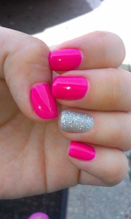 hot pink nail designs 20