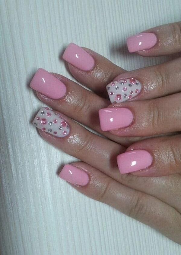 hot pink nail designs 22