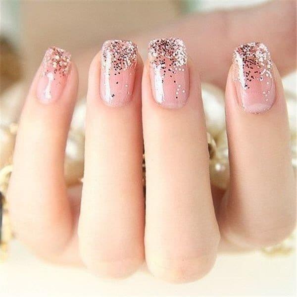 Crepe Pink nail