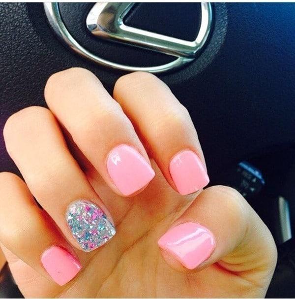 hot pink nail designs 24