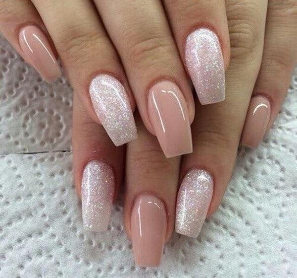 Coral Pink nail