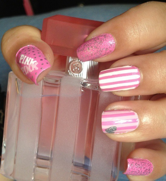 hot pink nail designs 26