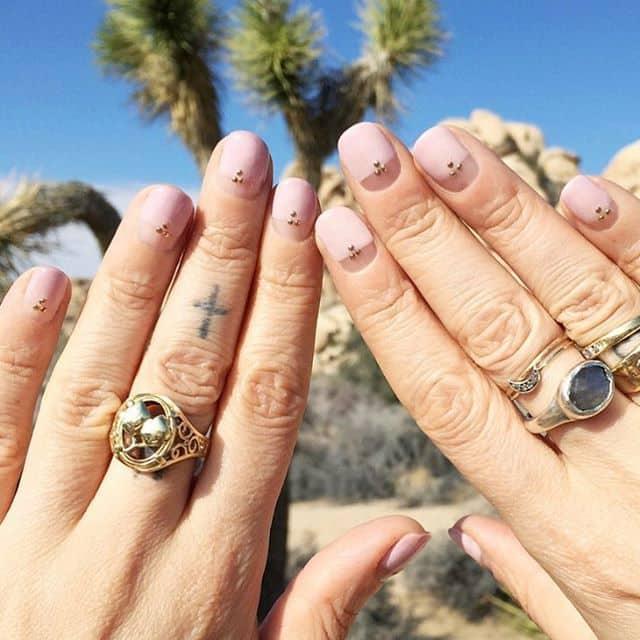 light pink nail designs