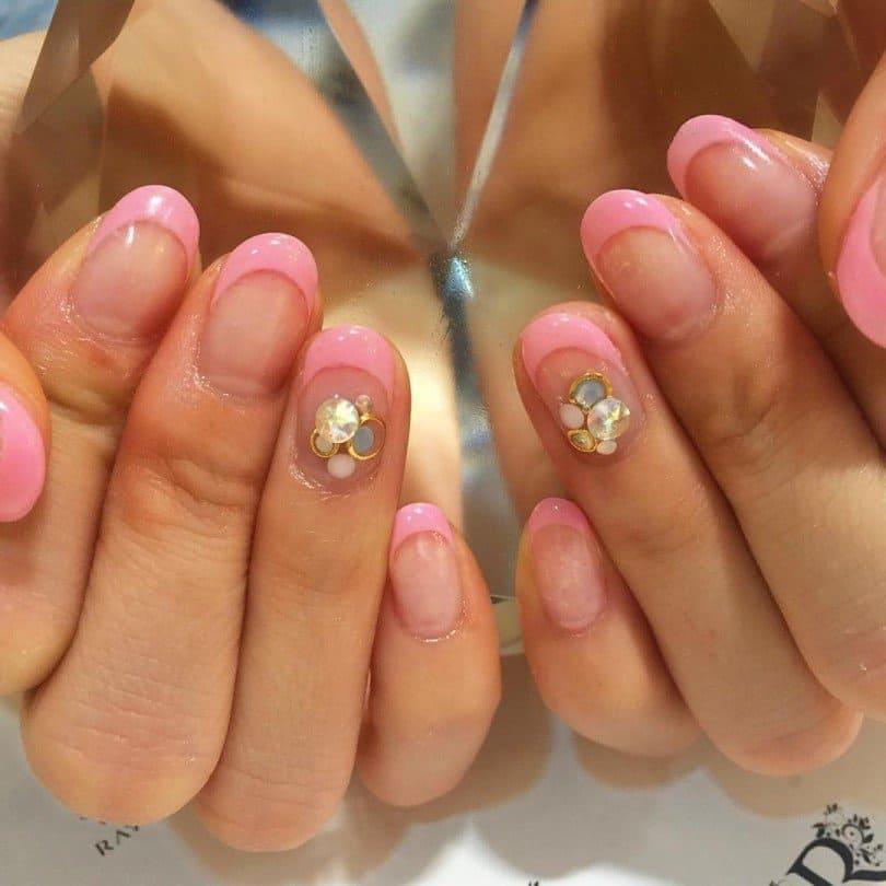 hot pink nail designs 28