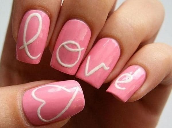 Love pink nail