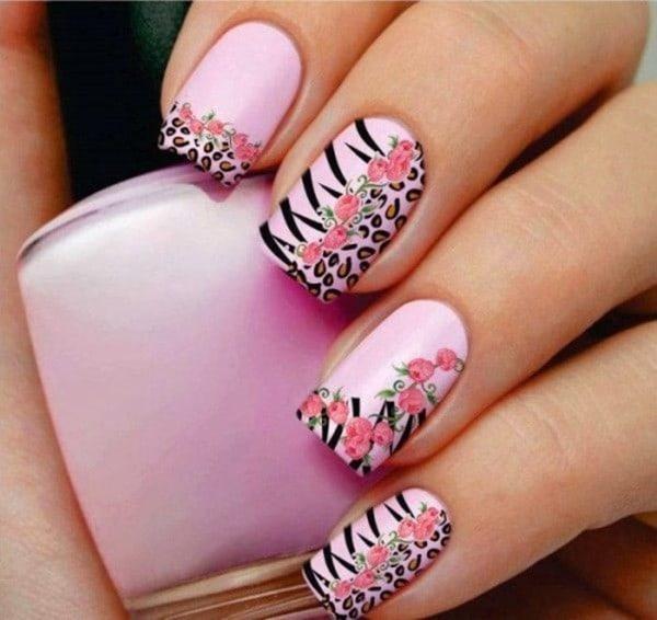hot pink nail designs 31